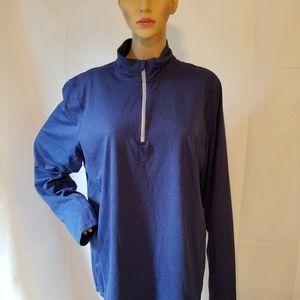 Kirkland signature athletic jacket Blue 1/2 zip lg